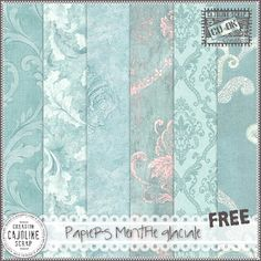 Freebies : Papers Pack (Set of 6 Pngs) Papiers Menthe Glaciale (Light Blue) from Cajoline-Scrap