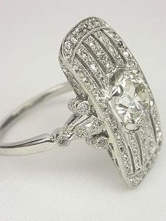 Edwardian platinum and diamond dinner ring. wow.