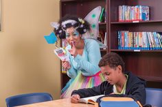 Coordinate a Get Caught Reading campaign where your principal dresses in costume and hands out tickets and prizes to students who get caught. Enchanted Forest Book, Library Ideas, Imagination, Campaign, Students, Fairy, Hands, Costume
