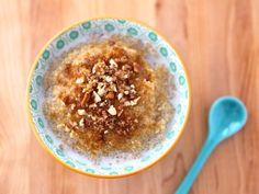 Quinoa Porridge with Maple and Brown Sugar....Can be made vegan with a non dairy milk sub out!