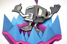 Robo Guy by Mick Theisen, via Behance