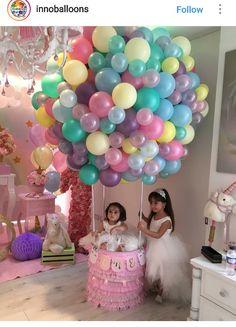 Baby Girl Birthday, Unicorn Birthday Parties, Birthday Balloons, Unicorn Party, First Birthday Parties, Balloon Decorations, Birthday Party Decorations, Baby Shower Decorations, Party Themes