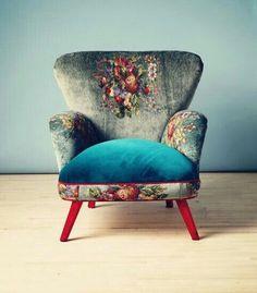 Name Design Studio - Armchair Boho Chic Interior, Bohemian Bedroom Design, Bohemian Decor, Bohemian Style, Cafe Interior, Funky Home Decor, Home Decor Styles, Diy Home Decor, Design Studio