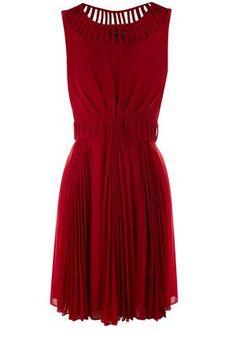 Mid Purple Julia Pleat Dress