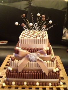 My Malteser explosion wedding cake project