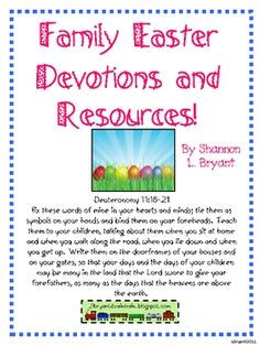This FREE resource pack was designed for young families, as well as those who work with children in Sunday School, Children's Church, etc.  Materia...