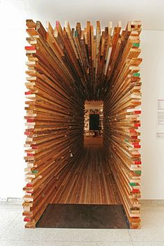 Sebastian Mariscal created a tunnel from plywood that serves as the entry point…