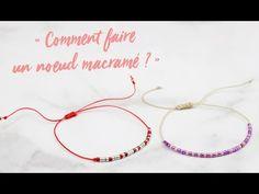 How to make a macrame knot Miyuki Beads, Bracelet Fil, Thread Bracelets, Fun Projects, Hoop Earrings, Délicate Attention, Chain, Morse, Dyi