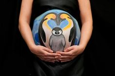 Painted Baby Bump