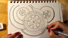 Mandala (style) Doodle by Aquarius Artist Stacy Nicolle
