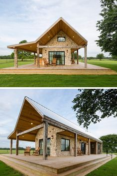 Pole barn structure is ideal for housing, garage, workshop, a living area for animals and livestock or other storage areas. It is a safe and secure way to get your stylish home Pole barn structure is ideal fo Diy Pole Barn, Building A Pole Barn, Pole Barn House Plans, Metal Building Homes, Pole Barn Homes, Dream House Plans, Small House Plans, Building A House, Barn Home Plans