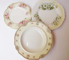Silesia The Wakefield Made in Bavaria Set of 3 plates