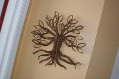 Tutorials: Paper Roll Twisted Oak Tree