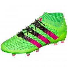 Absolute Kontrolle über Spiel, Ball und Gegner mit dem neuen #adidas Performance ACE 16+ Primeknit FG/AG Limited Fußballschuh #green #pink #colorful #footballshoes #football