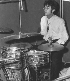 John on the drum kit ~ Ludwig