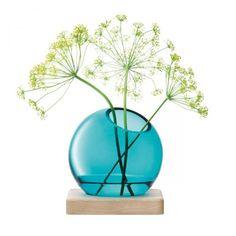 Axis Vase, pfauenblau 14.5cm