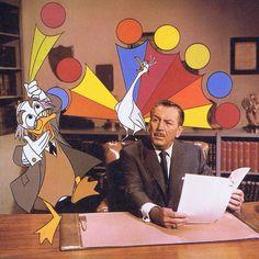 Walt with Ludwig Von Drake