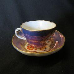 Meissen Porcelain Cup & Saucer,handpainted