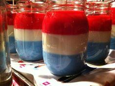 "by Hoosier Candle Company! ""Tippecanoe, white & blue""   Red-strawberry shortcake, white-vanilla extra, blue-Courtnee's Blueberry Pancakes.  $13.95"