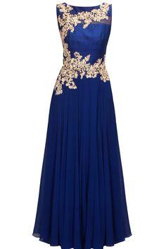 41 Ideas For Indian Bridal Outfits Blue Indian Gowns, Indian Attire, Indian Bridal Outfits, Bridal Dresses, Bridal Sarees, Prom Dresses, Salwar Kameez, Pretty Dresses, Beautiful Dresses