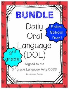 Viewing 1 - 20 of 36478 results for daily oral language dol bundle aligned to grade ccss 3rd Grade Reading, Third Grade, Grade 3, Daily Oral Language, Language Arts, 3rd Grade Thoughts, Reading Groups, Booklet, Lesson Plans
