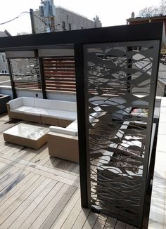 roof deck, pergola, screens, outdoor furniture, urban, garden, landscape, design