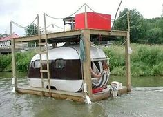 Houseboat with deck