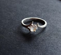 Raw Diamond Engagement Ring // Rough Diamond Ring // by Avello