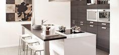 schiereiland keuken ideeen met stoeltjes