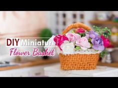 DIY Miniature Flower Basket Tutorial - Nendoroid & Doll Accessories - YouTube