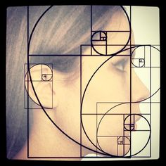 The Golden Ratio on the human face and head. #wisdom #geometry ...