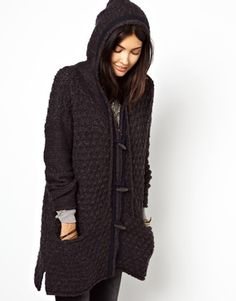 Free People Hooded Coatigan with Toggles
