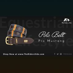 The Rider's Side Pro Mustang Polo Belt. A Polo Must Have.  True Equestrian Lifestyle.  Discover more on www.theridersside.com