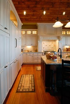 Painted Kitchen Cabinets and Island in Beech Mountain