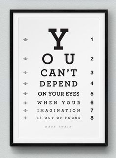 Kyle Robertson is a graphic designer based in London. He created a black and white posters set in which he plays with the typography and graphic according to the quote of leading figures he wants to highlight, as the artist Evan Robertson. On some creatio Favorite Quotes, Best Quotes, Vision Quotes, Eye Chart, Game Quotes, Tumblr, Grafik Design, Quote Prints, School Design
