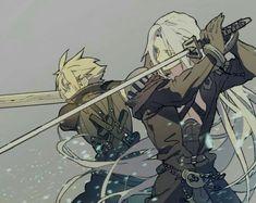 Greatest warriors of the Final fantasy series Final Fantasy 3, Final Fantasy Collection, Final Fantasy Characters, Final Fantasy Artwork, Fantasy Series, Fantasy World, Final Fantasy Crisis Core, Fantasy Team, Manga Art