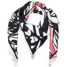 Hugo Lachina Silk Scarf Open Miscellaneous in red, beige, black,... (2 690 ZAR) ❤ liked on Polyvore featuring accessories, scarves, silk scarves, red scarves, red shawl, hugo and pure silk scarves