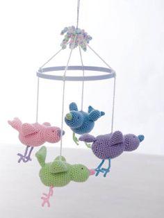 """TLC® """"Baby"""" Crochet Baby Bird Mobile"""