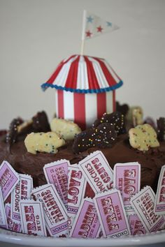 Rooted In Thyme: ~A Circus Chocolate Cake~