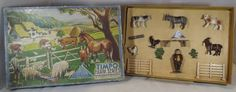 Antiques Atlas - Vintage Boxed Timpo Toys Farm Series Lead Set