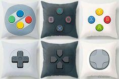 Gamer throw pillows