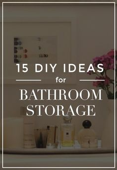 Your dream bathroom is just around the corner. These 15 genius DIY bathroom storage ideas will bring creative design to your average bathroom. Clever organizing tips will make your space feel more functional, larger and more beautiful. Understairs Storage Space, Storage Spaces, Storage Ideas, Lego Storage, Diy Storage, Storage Shelves, Do It Yourself Organization, Organization Hacks, Organizing Tips