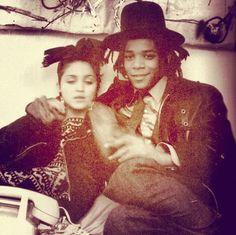 rere look - madonna & jean-michael basquiat