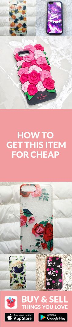 Phone case all beat up?  Grab a new one on Mercari! Buy and sell new/used items like clothing, brand-name bags, shoes, cosmetics, jewelry, electronics, and more. Turn your old items into cash and find new treasures as well–straight from your mobile phone! Shop confidently with our Buyer Protection Guarantee. What are you waiting for? Start using Mercari today!