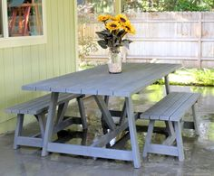 Great patio table to make using Anna White plan.  Took her 6 hours to make.    IMG_4703.JPG 1,569×1,302 pixels