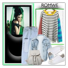 """""""romwe.com"""" by ilona-828 ❤ liked on Polyvore featuring Faustine Steinmetz, IRO, romwe and polyvoreeditorial"""