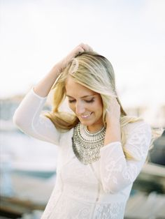 This outfit is on point! http://www.stylemepretty.com/massachusetts-weddings/boston/2015/03/25/boston-engagement-session/ | Photography: Brumley & Wells - http://brumleyandwells.com/