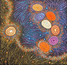 Yanjirlpirri or Napaljarri-Warnu Jukurrpa (Star or Seven Sisters Dreaming) by Wendy Nungarrayi Brown
