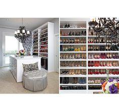 Fabulous Walk-In Closet by LA Closet Design Glam Closet, Closet Vanity, Walk In Closet, Shoe Closet, Luxury Closet, Master Closet, Closet Bedroom, Closet Space, Master Bedroom