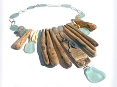 Hey, I found this really awesome Etsy listing at https://www.etsy.com/listing/203632380/sea-glass-and-driftwood-necklacesterling